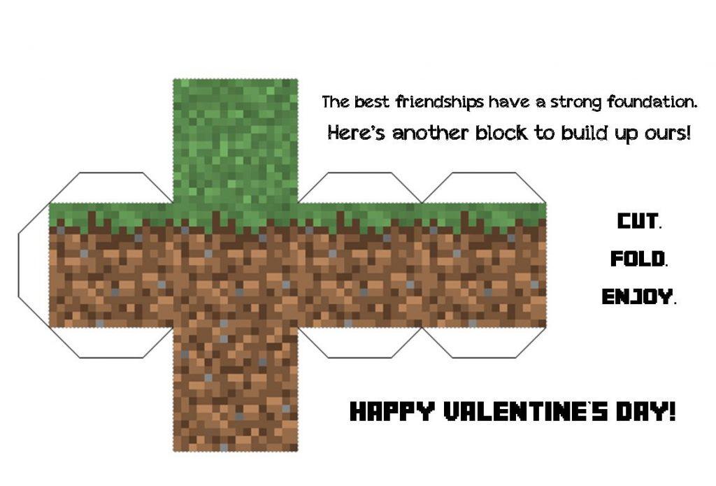 Minecraft block valentine