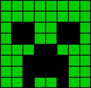 how to build a creeper head in minecraft
