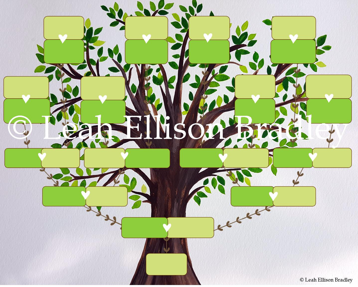 It is a photo of Superb Picture of a Family Tree